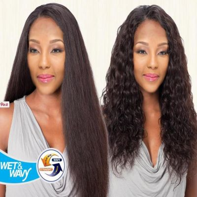 brazilian human hair wet and wavy weave